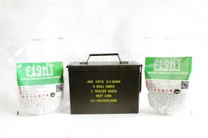 FCC Ammo Can And Selected 0.20g Bio-Degradable BBs (8000 rds) Combo