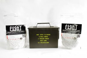 FCC Ammo Can And Selected 0.25g Bio-Degradable BBs (7000 rds) Combo